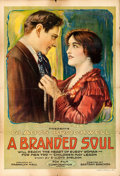 "Movie Posters:Drama, A Branded Soul (Fox, 1917). One Sheet (28"" X 41"").. ..."