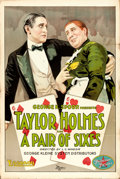 """Movie Posters:Comedy, A Pair of Sixes (Essanay, 1918). One Sheet (28"""" X 42"""").. ..."""