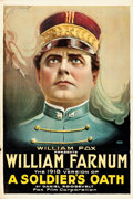 "Movie Posters:Drama, A Soldier's Oath (Fox, R-1918). One Sheet (27"" X 41"") Portrait Style.. ..."