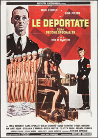 "Deported Women of the SS Special Section (Giuseppe Zaccariello, 1976). Italian 2 - Fogli (39.25"" X 55""). Explo..."