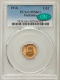 Commemorative Gold, 1916 G$1 McKinley Gold Dollar MS66+ PCGS. CAC....