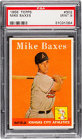 Baseball Cards:Singles (1950-1959), 1958 Topps Mike Baxes #302 PSA Mint 9 - Pop Four, None Higher....