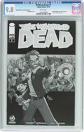 Modern Age (1980-Present):Horror, The Walking Dead #1 Wizard World Tulsa Sketch Edition (Image, 2015)CGC NM/MT 9.8 White pages....
