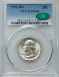 Washington Quarters, 1950-D/S 25C FS-601 MS64 PCGS. CAC....