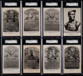 Baseball Cards:Lots, 1944-52 Albertype Hall of Fame Plaque/Bust SGC Graded Collection (8)....