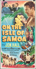 "Movie Posters:Adventure, On the Isle of Samoa (Columbia, 1950). Three Sheet (41"" X 80"").Adventure.. ..."