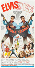 "Movie Posters:Elvis Presley, Double Trouble (MGM, 1967). Three Sheet (41"" X 79.25""). ElvisPresley.. ..."