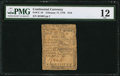 Colonial Notes:Continental Congress Issues, Continental Currency February 17, 1776 $1/6 PMG Fine 12.. ...