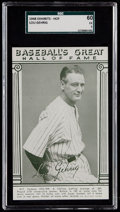 Baseball Cards:Singles (1940-1949), 1948 Baseball's Great HOF Exhibits Lou Gehrig SGC 60 EX 5. ...