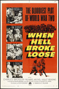 "Movie Posters:War, When Hell Broke Loose (Paramount, 1958). One Sheet (27"" X 41"").War.. ..."