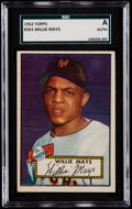 Baseball Cards:Singles (1950-1959), 1952 Topps Willie Mays #261 SGC Authentic....