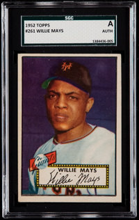 1952 Topps Willie Mays #261 SGC Authentic