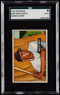 Baseball Cards:Singles (1950-1959), 1951 Bowman Willie Mays #305 SGC Authentic....