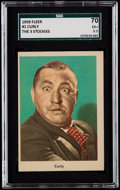 "Non-Sport Cards:Singles (Post-1950), 1959 Fleer ""Three Stooges"" Curly #1 SGC 70 EX+ 5.5...."