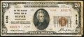 National Bank Notes:Pennsylvania, Beaver, PA - $20 1929 Ty. 2 The Fort McIntosh NB Ch. # 8185. ...