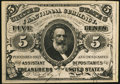 Fr. 1238 5¢ Third Issue Choice About New
