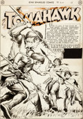 Original Comic Art:Splash Pages, Fred Ray Star Spangled Comics #97 Splash Page 1 Tomahawk Original Art (DC, 1949)....