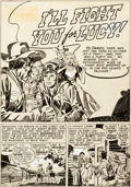Original Comic Art:Panel Pages, Jack Kirby (attributed) and Mort Meskin Boys' Ranch #3 StoryPage 1 Original Art (Harvey, 1951)....