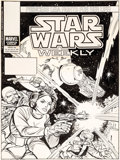Original Comic Art:Covers, Carmine Infantino and Dan Green (attributed) Star WarsWeekly #105 Cover Original (Marvel UK, 1980)....