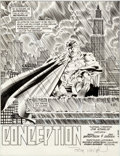 Original Comic Art:Splash Pages, Bernie Wrightson and Dan Green The Weird #1 Splash Page 1Original Art (DC, 1988)....