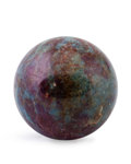 Lapidary Art:Eggs and Spheres, Ruby Sphere. Mysore District. Karnataka.India. 1.85 inches (4.69 cm) in diameter. ...
