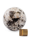 Lapidary Art:Eggs and Spheres, Granite Sphere. Locality Unknown. 2.76 inches (7.00 cm) indiameter. ...