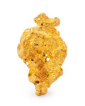 Minerals:Golds, Gold Nugget. Australia. 0.95 x 0.57 x 0.15 inches (2.41 x 1.46 x 0.37 cm). ...