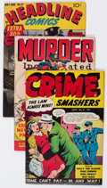 Golden Age (1938-1955):Miscellaneous, Comic Books - Assorted Golden Age Crime Comics Group of 4 (Various Publishers, 1950s) Condition: Average FN.... (Total: 4 Comic Books)