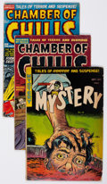Golden Age (1938-1955):Horror, Chamber of Chills/Mister Mystery Group of 3 (Various Publishers,1950s) Condition: Average GD.... (Total: 3 Comic Books)