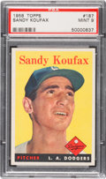 Baseball Cards:Singles (1950-1959), 1958 Topps Sandy Koufax #187 PSA Mint 9 - Only One Higher. ...
