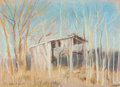 Fine Art - Work on Paper:Drawing, Reveau Bassett (American, 1897-1981). Hay Barn. Pastel onpaper. 8 x 10 inches (20.3 x 25.4 cm) (sight). Signed lower le...