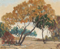 Fine Art - Painting, American:Modern  (1900 1949)  , Dwight Clay Holmes (American, 1900-1986). Fall Landscape.Oil on canvasboard. 8 x 10 inches (20.3 x 25.4 cm). Signed low...