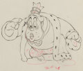 Animation Art:Production Drawing, Brave Little Tailor King Animation Drawing (Walt Disney,1938).. ...