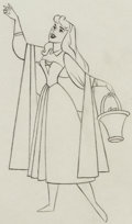 Animation Art:Production Drawing, Sleeping Beauty Briar Rose Animation Drawing (Walt Disney, 1959).. ...