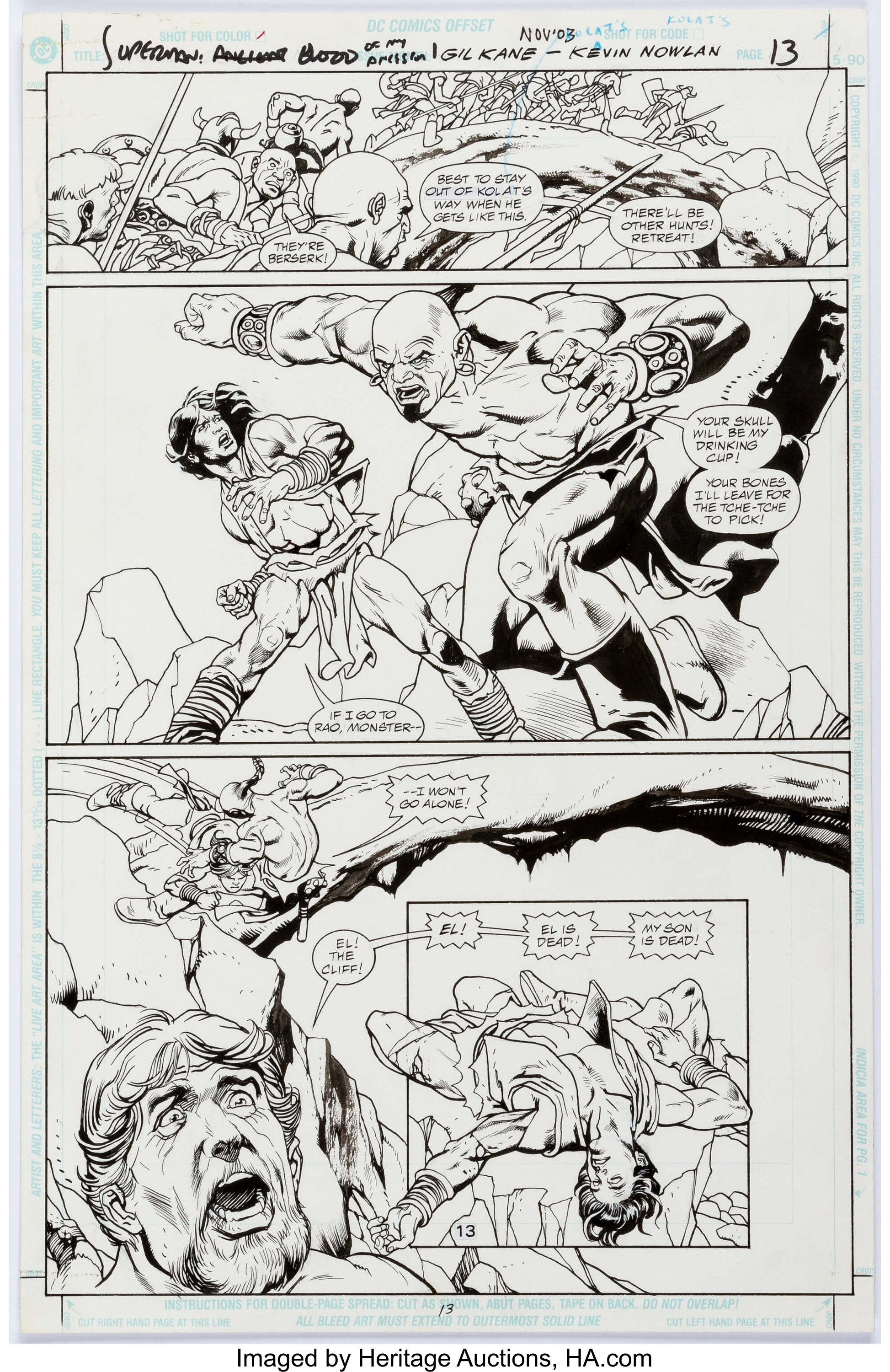 Gil kane and kevin nowlan superman blood of my ancestors story lot 14048 heritage auctions