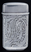 Silver Smalls:Match Safes, A Tiffany & Co. Silver Match Safe, New York, New York,1892-1902. Marks: TIFFANY & CO., 9886, MAKERS, 1651, 36,STERLING, ...