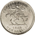 Territorial Gold: , Baldwin $10 Silver 'Restrike' MS65 PCGS. Kagin-1b. Nagy restrike in silver from 1909. Well struck and fully lustrous with u...