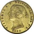 Australia: , Australia: Victoria gold 1/2 Sovereign 1864, KM3, AU50 NGC RBA, anattractive example of this scarcer date with light toning andnotice...