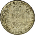 Colombia: , Colombia: Republic - Nueva Granada 10 Reales 1848, KM107, choiceAU-UNC, light peripheral toning with considerable original mintluste...