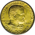 Commemorative Gold: , 1922 G$1 Grant with Star MS66 PCGS. PCGS Population (516/225). NGCCensus: (284/74). Mintage: 5,016. Numismedia Wsl. Price:...
