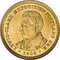 Commemorative Gold: , 1904 G$1 Lewis and Clark MS65 PCGS. A flashy example of thisdifficult early gold commemorative. The strike is sharp except...