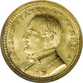 Commemorative Gold: , 1903 G$1 Louisiana Purchase/McKinley MS66 NGC. Bright straw-goldsatiny surfaces with pinpoint detailing on the highpoints....