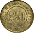 Colombia: , Colombia: Republic 2 1/2 Centavos 1902, KM190, MS63 NGC, mediumgray toning, rare date struck at the Waterbury Mint....