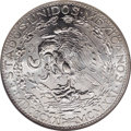 Mexico: , Mexico: Estados Unidos silver 2 Pesos 1921, KM-462, MS62 NGC,little abrasions (mostly on the obverse) in the stark, silverywhite l...