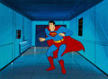 Animation Art:Production Cel, Super Friends Superman Production Cel (Hanna-Barbera, c.1970s-1980s)....