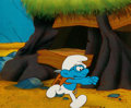 Animation Art:Production Cel, The Smurfs Brainy Smurf Production Cel (Hanna-Barbera. c.1980s).. ...