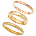 Estate Jewelry:Bracelets, Gold Bracelets. . ... (Total: 3 Items)