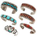 Estate Jewelry:Bracelets, Multi-Stone, Sterling Silver Bracelets. . ... (Total: 6 Items)