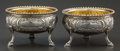 Silver Holloware, American:Open Salts, A Pair of Robert & William Wilson Partial Gilt Coin Silver OpenSalts, Philadelphia, Pennsylvania, circa 1840. Marks: W. W...(Total: 2 Items)