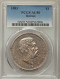 Coins of Hawaii , 1883 $1 Hawaii Dollar AU50 PCGS. PCGS Population: (75/221). NGCCensus: (33/196). CDN: $800 Whsle. Bid for problem-free NGC...
